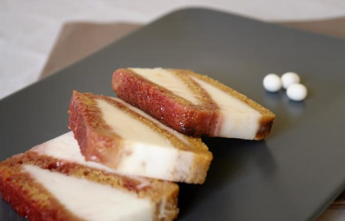 Icecream sandwich with Petits Anis candies